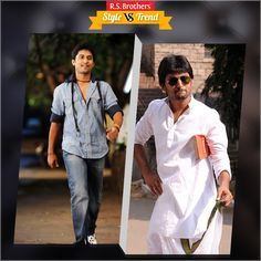 """#Style vs #Trend! South Indian Actor #Nani in Stylish Outfits with Smart Look & in other side with Traditional Outfits.  Which Outfit suits him best & looks Awesome? Present your interest in """"Like"""" for Casuals or """"Comment"""" for Trsditional Outfits…. (Image copyrights belong to their respective owners)"""