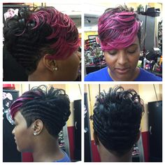 Black Hairstyles For Vegas Short - my vegas hair style Dope Hairstyles, My Hairstyle, Black Women Hairstyles, Virtual Hairstyles, Fashion Hairstyles, School Hairstyles, African Hairstyles, Pixie Hairstyles, Short Sassy Hair