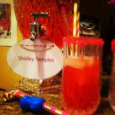 Shirley temple drinks station for the children