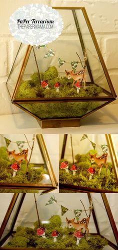 Paper Terrarium Tutorial fr The Paper Mama