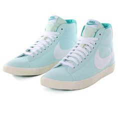 Nike Blazer Hi (vintage) Shoes - Mint Candy-White. If they were low top I'd take em in a heartbeat.