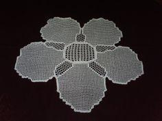 Hand Crochet Flower Doily in White by mariettanova on Etsy, $27.00
