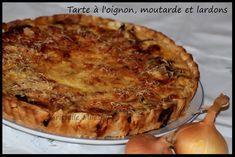 Tarte à l'oignon, moutarde et lardons