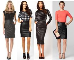 ..Leather Pencil Skirts!
