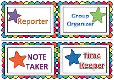 "The Best of Teacher Entrepreneurs: FREE MISC. LESSON - ""Stars of the Group: Small Group Role Cards Freebie (Autism)"""