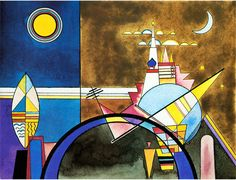 Wassily Kandinsky, Picture XVI, The Great Gate of Kiev. Stage set for Mussorgsky's Pictures at an Exhibition in Friedrich Theater, Dessau. (1928)