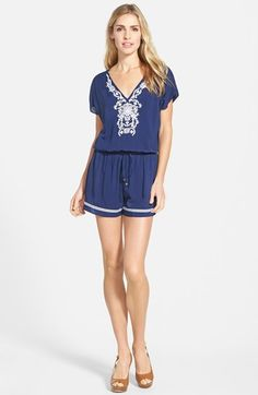 MICHAEL Michael Kors Embroidered Romper available at #Nordstrom