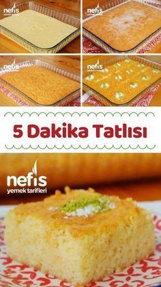 ) – Videolu – Nefis Yemek T… – Tatlı tarifleri – Las recetas más prácticas y fáciles Food T, Food And Drink, Yummy Food, Sweet Desserts, Easy Desserts, Dessert Recipes, Pasta Cake, Cakes Plus, Recipes