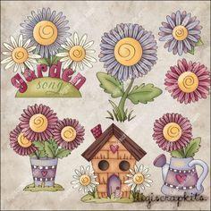 Garden Song 1 Clip Art Set