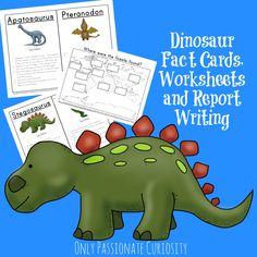 Today I have the next printable in our Dinosaur Unit Study series completed! This mini-unit is appropriate for kids in the 3rd-5th grades. Included are dinosaur fact cards, and coordinating worksheets to practice the new facts they learned. Grab this pack free in our shop until January 31, 2015! T