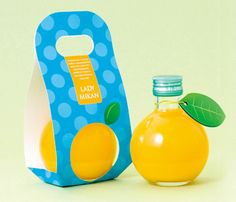 LADY MIKAN plum wine and tangerine juice liqueur #packaging.