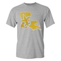 Louisiana Fleur-de-Lis State Unisex Short Sleeve T-Shirt - Heather Grey