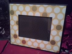 GOLD & YELLOW New Years frame Polka dot frame by MarieJamesDesign