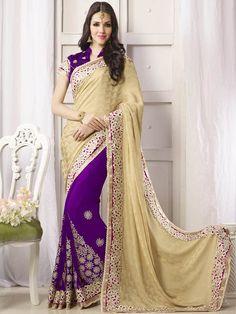 Purple color Party Wear Designer Saree 14017PT