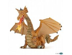 The Gold Dragon with Flame from the Papo Fairytale World collection - Discounts on all Papo Toys at Wonderland Models.  One of our favourite models in the Papo Fairytale range is the Papo Gold Dragon with Flame.