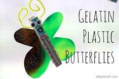 Dilly-Dali Art: Gelatin Plastic Butterflies