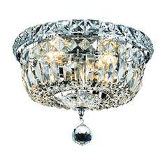 $156. Globe Lighting. Destination Lighting Crystal Flushmount Ceiling Light - 10-Inches Wide 2261