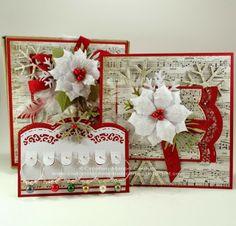 Cadeau d'hôtesse. Création de Kasimodo. Created by Kasimodo. Noel Christmas, Christmas Cards, Poinsettia, Holiday Cards, Holiday Decor, Card Tags, Scrapbooking, Advent Calendar, Creations