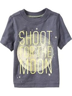 """Kinda fell for this one :) """"Shoot for the Moon"""" Tees for Baby 