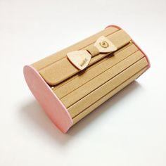 Light pink cork & wood handbag!