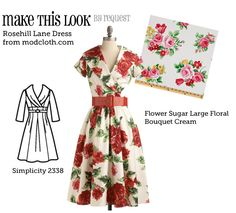 This might be the winner, I have always wanted a rose dress and it looks so very 1940's. X