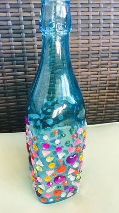 Jewelled Glass bottle