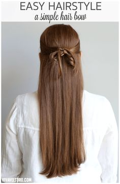 Looking for a simple hairstyle? This simple hair bow looks so pretty and is so easy to do.