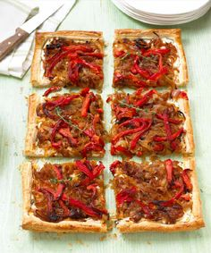 Goat's Cheese, Thyme, and Onion Marmalade Galette - simple, but delicious and perfect for vegetarians too. Cut into little squares to have as canapés or bigger pieces to serve as a starter (christmas cooking mary berry) Galette Recipe, Savory Tart, Savoury Pies, Midweek Meals, Mary Berry, Thing 1, Cooking Recipes, Meal Recipes, Cooking Tv