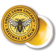 Show your lips some love with this all-natural Lemongrass Lip Balm from Sweet Comb Chicago. Made in small batches, it contains a thoughtful blend of beeswax, sunflower oil, hemp oil, avocado oil, jojoba oil, cocoa butter, aloe vera, beeswax, and essential oils. Use Sweet Comb Chicago Lip Balm to nourish, soften, and moisturize for healthy, bee-utiful lips! Lemongrass is a fresh, uplifting scent.