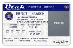 Utah Drivers License PSD Template