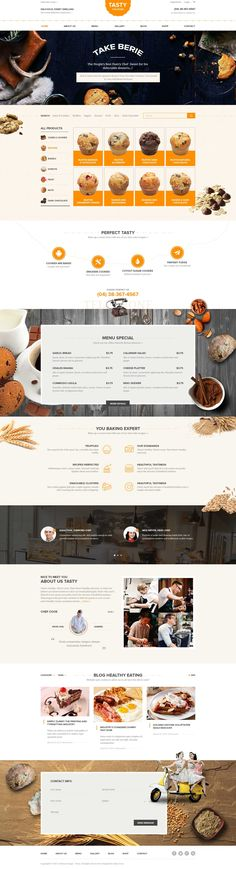 Wordpress - WooCommerce  Theme for baked goods: Imagine this layout but with MT products