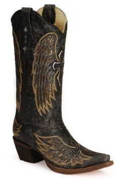 Corral Angel Wing Cross Cowgirl Boots - Snip Toe - Sheplers