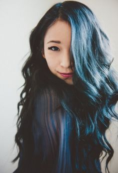 24 Dark Blue Hair Color Ideas for womens 2018