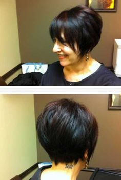 Short Layered Bob Pictures that You'll Love | http://www.short-haircut.com/short-layered-bob-pictures.html