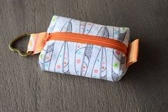 Teeny Tiny Zipper Pouch, Zipper Pouch, Coin Purse, Coin Pouch, Small Bag, Zipper Bag, Keychain Pouch, Key Ring, Key Fob