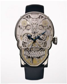 """Fiona Krüger's """"Memento Mori"""" series of Day of the Dead-inspired watches were her thesis project at ECAL/University of Arts and Design Lausanne"""