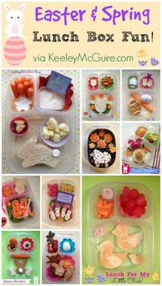 Tons of fun kids Easter & Spring School Lunch Ideas!