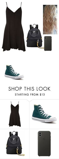 """Untitled #518"" by ericanunes on Polyvore featuring Topshop, Converse and Apple"