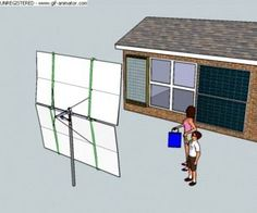 Heliostat for solar heating (believe this is supposed to be mirrors that re-direct the sun into the house and collectors)