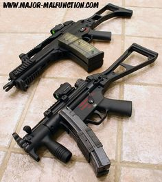 HK MP5 PDW and HK G36c