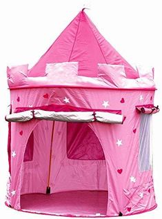 Wendy House Pink Girls Castle Pop Up Tent Playhouse Bedroom Garden Princess Play Castle Playhouse, Indoor Playhouse, Girls Play Tent, Childrens Tent, Childrens Playhouse, Pop Up Play, Pink Castle, Princess Castle, Pink Princess