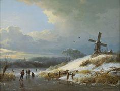 Barend Cornelis Koekkoek - Winters gezicht met schaatsers