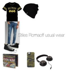 """stiles romaoff"" by carrollgabriel on Polyvore featuring Bioworld, American Eagle Outfitters, Converse, Master-Piece, Hurley, men's fashion and menswear"