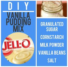 Vanilla Pudding Mix Recipe. Store in airtight baggie. To use add milk and stir over medium heat.