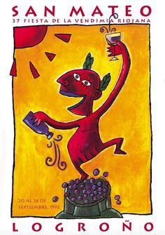 Cartel Fiestas San Mateo Logroño 1993