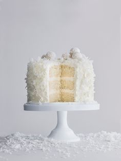 Our Christmas 2016 cover recipe for this indulgent coconut cake with Raffaello or white chocolate is soft, fluffy and oh-so-moreish. It'll serve 15 so it's perfect for Christmas parties.