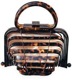 Cult Gaia Acrylic Lilleth Top Handle Bag