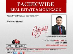 #Pacificwide proudly introduces one of our elite agents - Okie Tran, Realtor & Property Manager