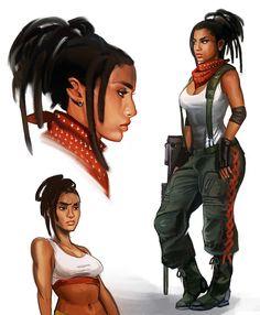 Artstation - character designs, crystal graziano cyberpunk c Character Design Cartoon, Character Drawing, Character Design Inspiration, Character Concept, Character Portraits, Concept Art, Black Anime Characters, Sci Fi Characters, Black Girl Art