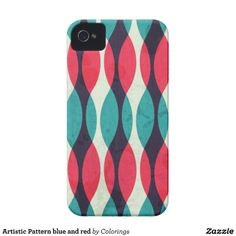 Artistic Pattern blue and red #iphonecase #iphonecases